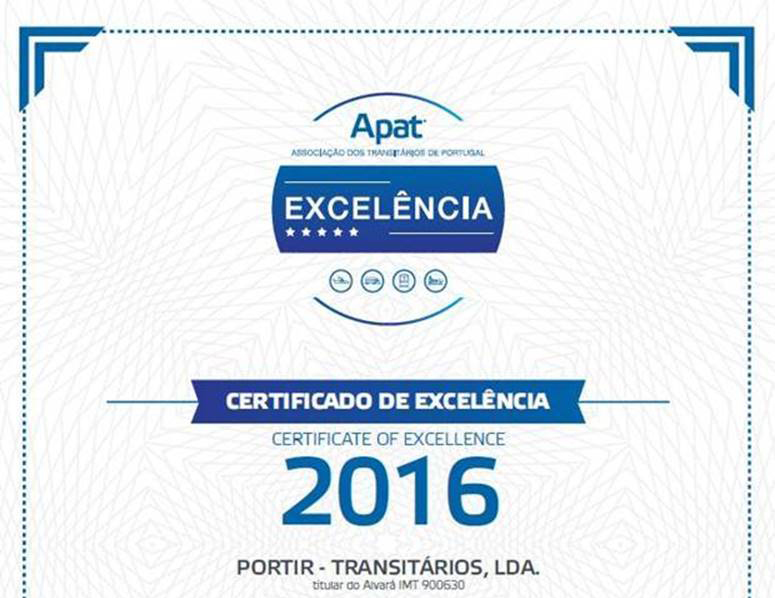APAT 2016 Certificate of Excellence